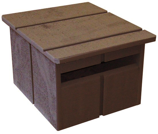 A-CABIN-Brown Letterbox