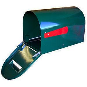 round rural mail box